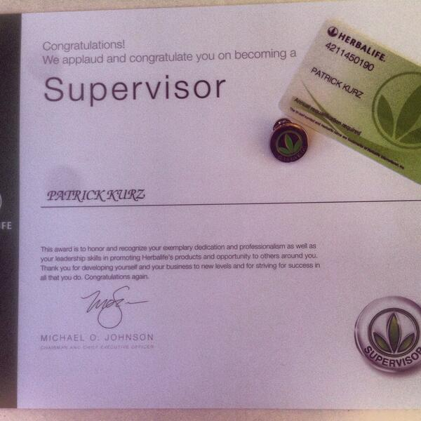 seshorty on twitter finally recieved my herbalife supervisor certificate lets stand together for health nutrition httptcotienc7epdf