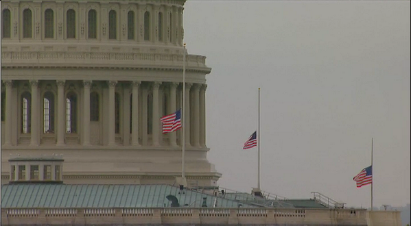 PHOTO: Flags lowered to half-staff at the U.S. Capitol in honor of victims of Oklahoma #tornado http://pic.twitter.com/EqDFBd3E5A
