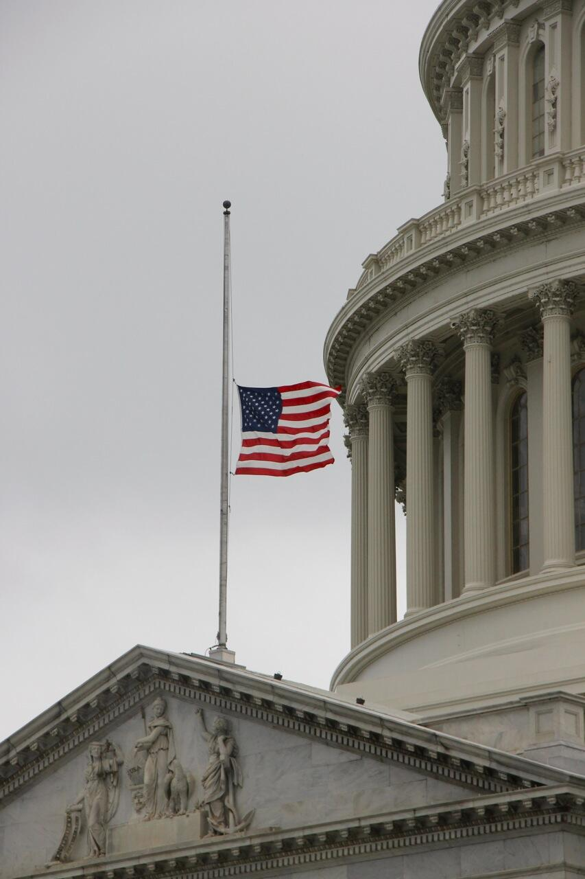Twitter / uscapitol: Capitol flag at half-staff ...