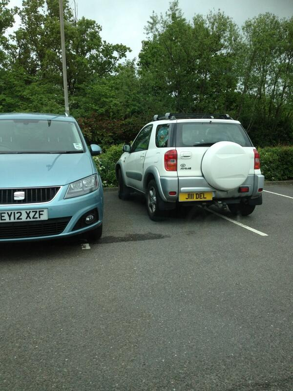 EY11 XZF & J11 DEL displaying Inconsiderate Parking