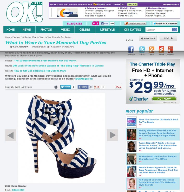 Twitter / ZiGishoes: @OKMagazine names our ZiGisoho ...