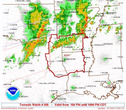 Twitter / SamChampion: Tornado watch-parts of Texas, ...