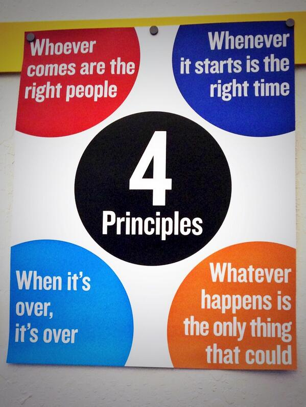 """@thinkcaroline: The 4 Principles at #OCU2013 pic.twitter.com/sOpUGlbfAr"" / #openspace #unconference"