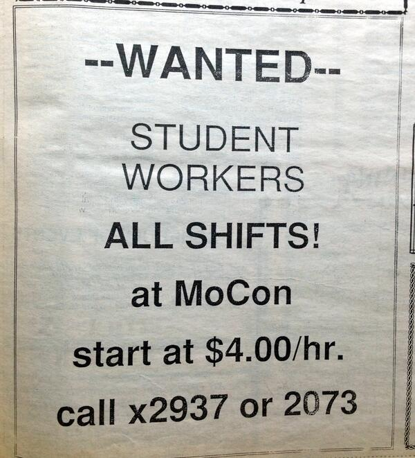 #RC2013 Throwback. Any MoCon student workers out there? What a sweet gig; a whole $4/hr. #gooddeal pic.twitter.com/4MY9Rk6xu3