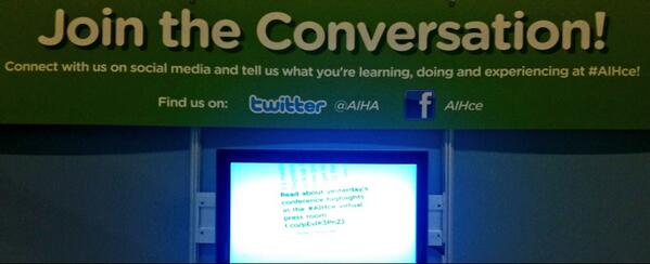 We're loving @visibletweets for our #AIHce social media! Such an awesome website! pic.twitter.com/VHbLZ0CDQI