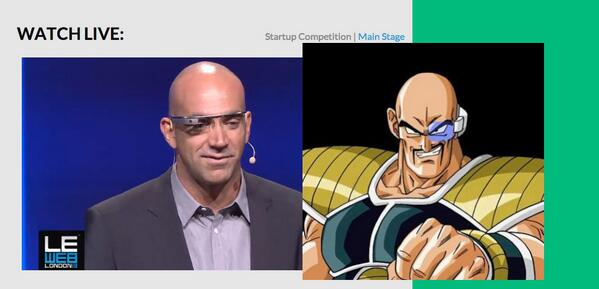 .@loic really looks like to Nappa (Dragon Ball Z) with his Google Glass #DBZ #googleglass #LeWeb #london http://pic.twitter.com/usSWgWZskF
