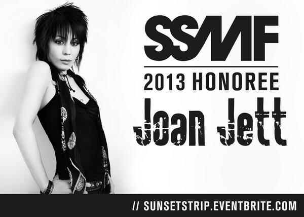 The #SSMF 2013 Honoree is... @JoanJett!. See her perform with a VIP 3-day pass. http://t.co/Hnds1e1rMJ http://t.co/8unhUadv7J