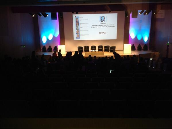 Conférence #G9plus Femmes&Numérique NOW ! - Regards croisés sur les enjeux du numérique - ow.ly/lq9CU pic.twitter.com/Zst1w6VRXU