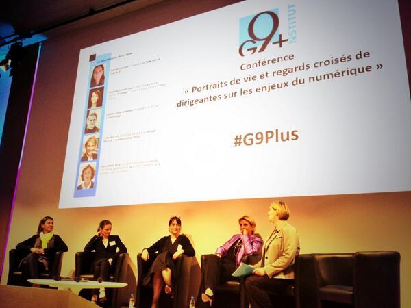 """Et voici notre panel #G9plus """"regards de dirigeantes"""" : @fgri de @Pierre_vacances, @DelphineErnotte de @orange ... pic.twitter.com/hyDbKYYHVI"""