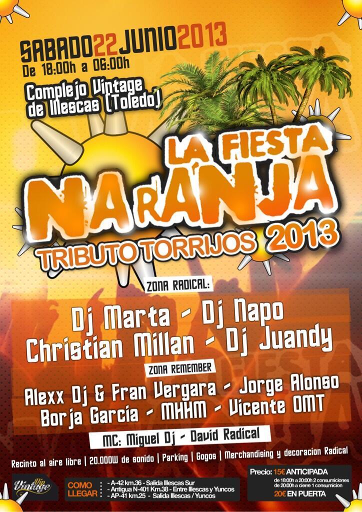sabado 22 de junio ((Radical)) fiesta naranja 2013 BL2uF3BCMAAifpG