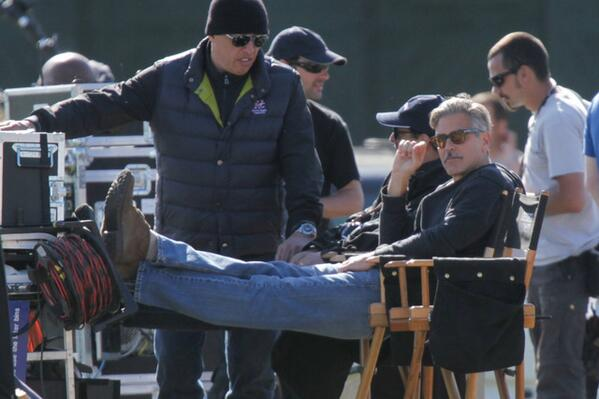 George Clooney filming at RAF/Imperial War Museum Duxford in Cambridgeshire - Page 2 BL3NQx3CEAAHhJA