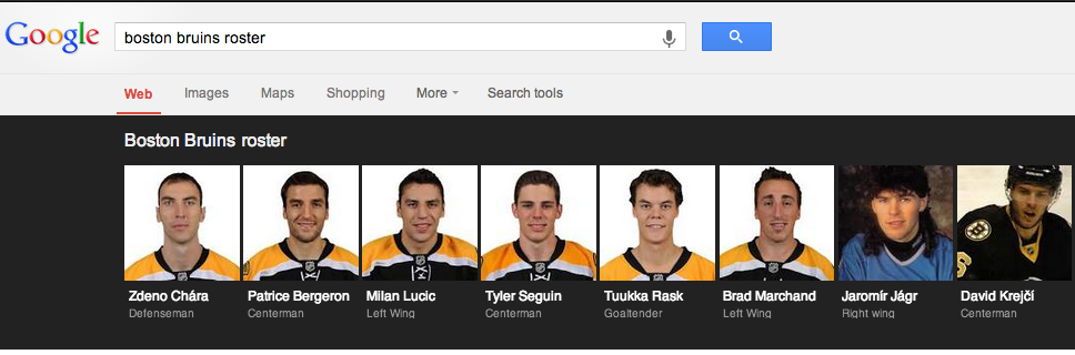 Twitter / sbnation: Google's choice of a roster ...