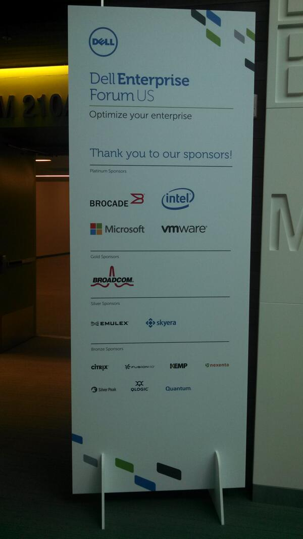 Thank you to our amazing #DellEF sponsors including @microsoft @VMware @intel pic.twitter.com/o5eZata5k6