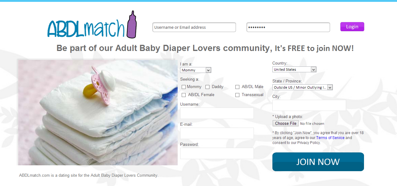 Diaper lovers page