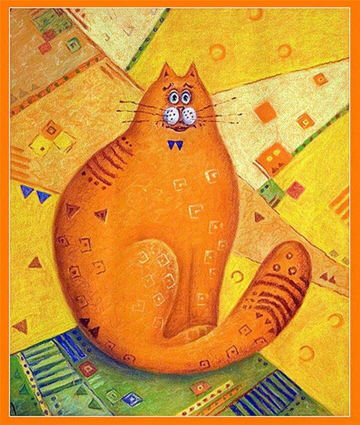 Поздравительных, рисунки рыжих котов смешные