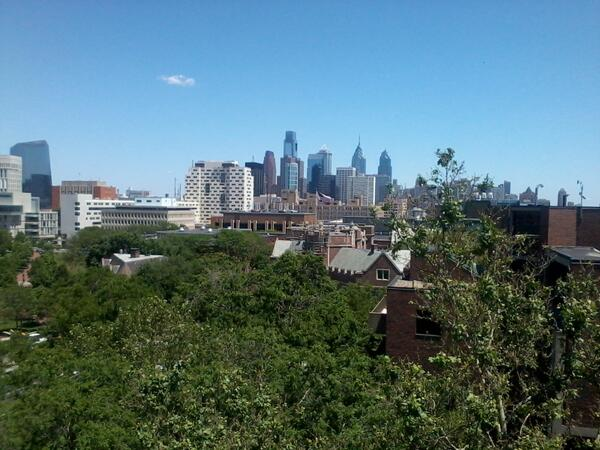 Much better photo! RT @dremerling: Beautiful view of Philly from @pennwic #phillydh pic.twitter.com/PQRXcjSAe2