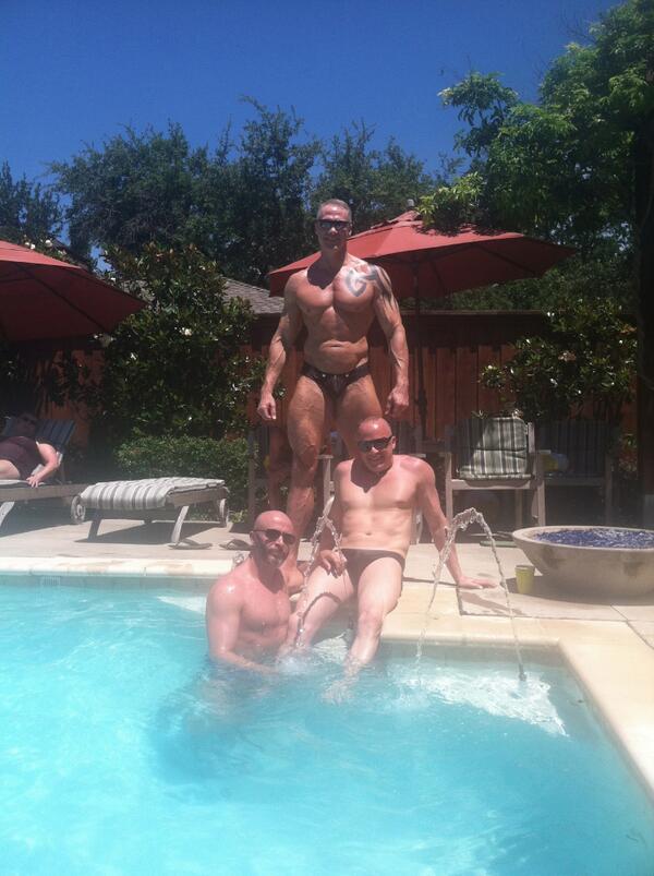 Muscle men posing nude