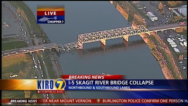 Photo: A wide-perspective image of I-5 from @KIRO7Seattle