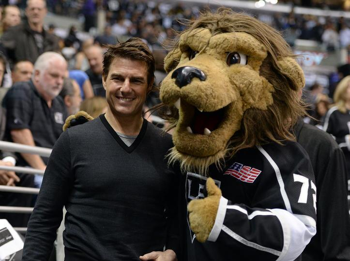 Twitter / NHL: Tom Cruise and @BaileyLAKings. ...