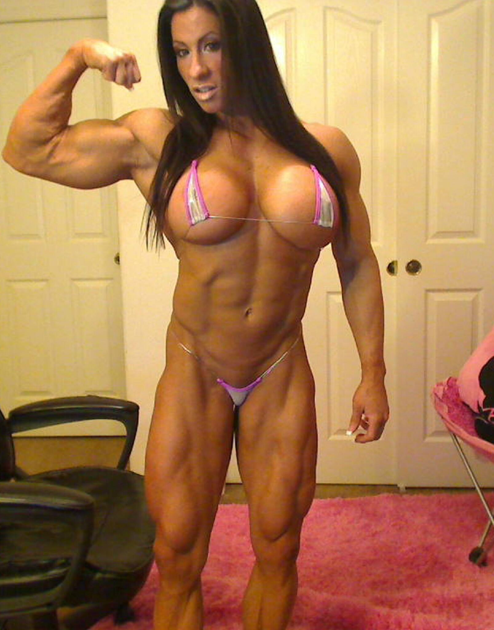 Female bodybuilder angela salvagno loves having a cock 7