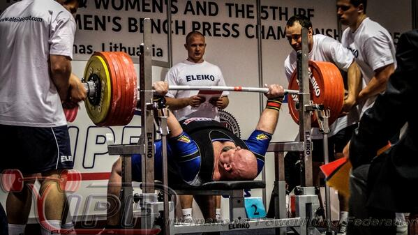 Biggest #benchpress in IPF history! Jona Leo from @USAPowerlifting pressing 360.5kg at the World #benchpress Champs!