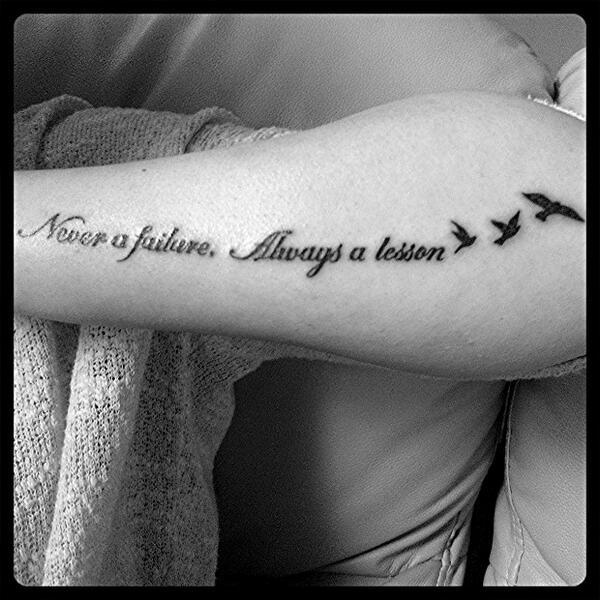 Zoelouiseallport On Twitter New Tattoo Never A Failure Always A