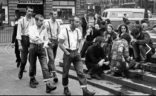 "Matthew Goodwin on Twitter: ""Skinheads meet Hippies, in Piccadilly Circus,  1969, #London ----> via @theretronaut http://t.co/kmyYkiMPi1"""
