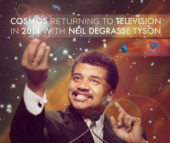 Holy shit! Neil deGrasse Tyson to host Carl Sagan's Cosmos next year. RT the hell out of this! http://t.co/MHe55kKRll