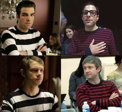 Twitter / Mfreemanweb: Zachary Quinto and Martin Freeman ...
