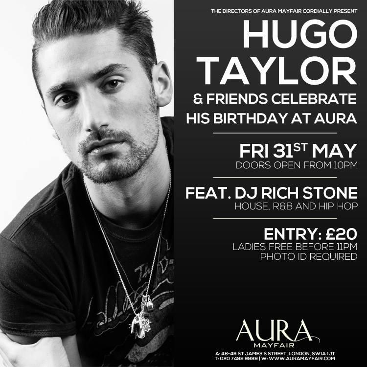 Velvet PR –Hugo Taylors official birthday invitation (VIP Host table ...
