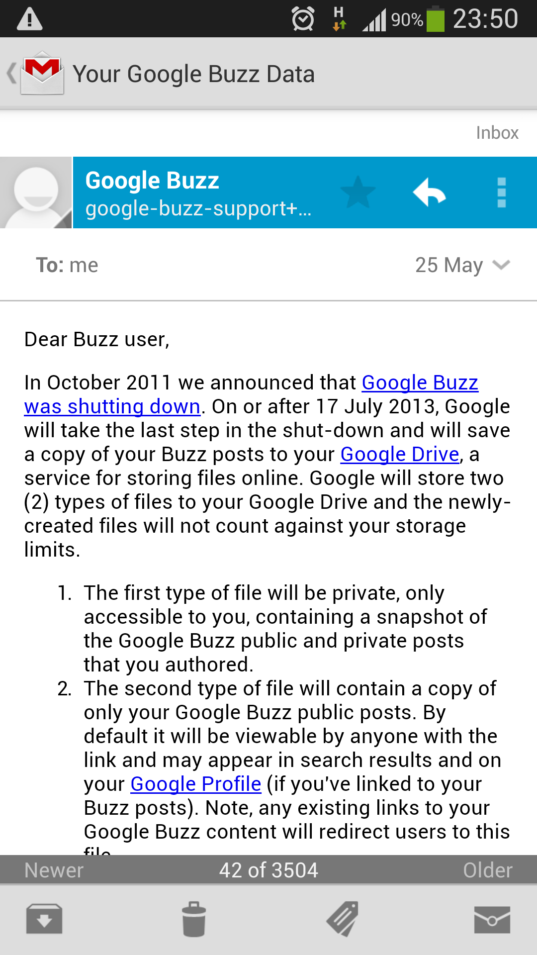 Twitter / echenze: Hadn't seen my Google Buzz ...