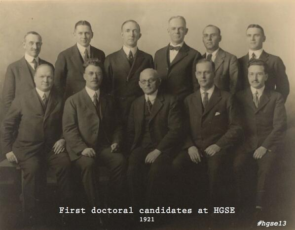 If you could send a tweet to a member of HGSE's first doctoral class of 1921, what would it say? #hgse13 pic.twitter.com/jFVYWwAHCn