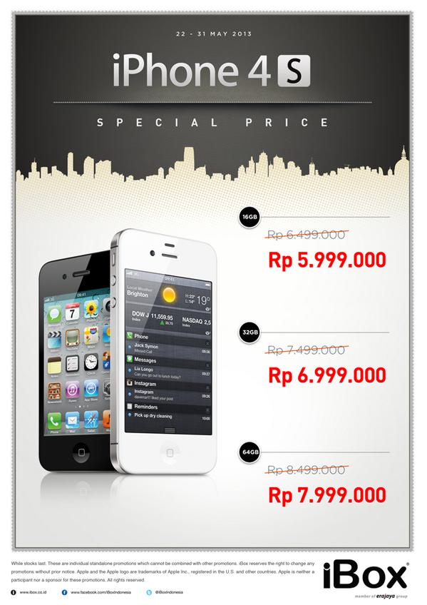 Ibox On Twitter Special Price Iphone 4s Di Semua Ibox
