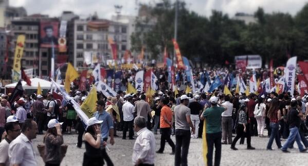 Traditional unions so late to the game. Business unusual in Turkey. RT @paulmasonnews:Workers arrive in Taksim Square http://pic.twitter.com/TY24STWNSZ