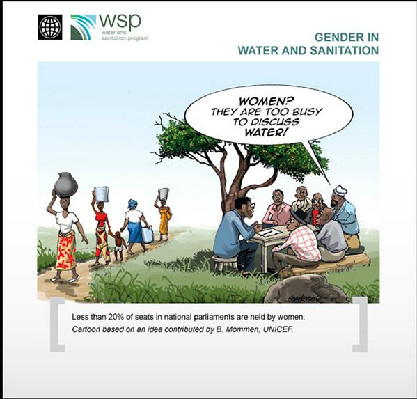 Women & girls are too busy to discuss #Water, #Health & #Sanitation goals. @WorldBankWater http://t.co/eQ2d0LAsVu \@urb_im @jfredby #WD2013