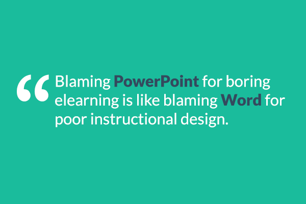 Twitter / elearning: Blaming #PowerPoint for boring ...