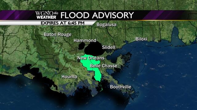 Twitter / WGNOtv: A Flood Advisory is in effect ...