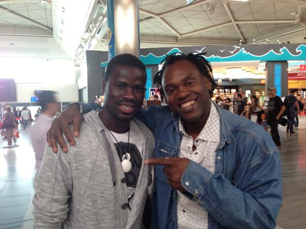 Ivory Coast international Emmanuel Eboue with THE Doc at Istanbul airport. #istanbul #airport