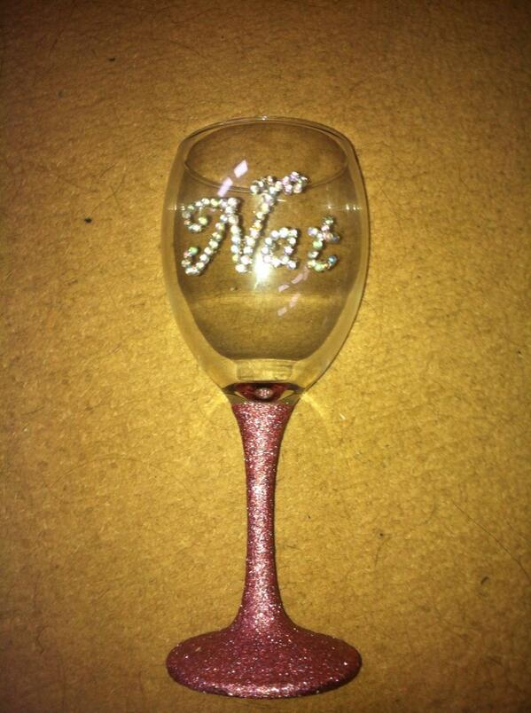 The sparkle box on twitter personalised glitter wine How to make wine glasses sparkle