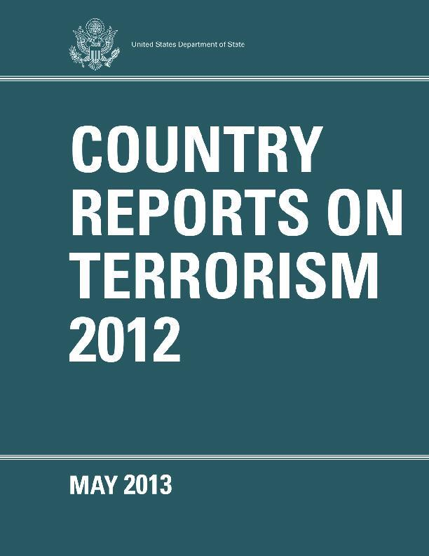 Country Reports on Terrorism 2012