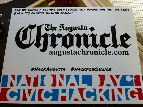 Can we create one central public data portal? @AUG_Chronicle #hackaugusta pic.twitter.com/ayGDWsI0gX