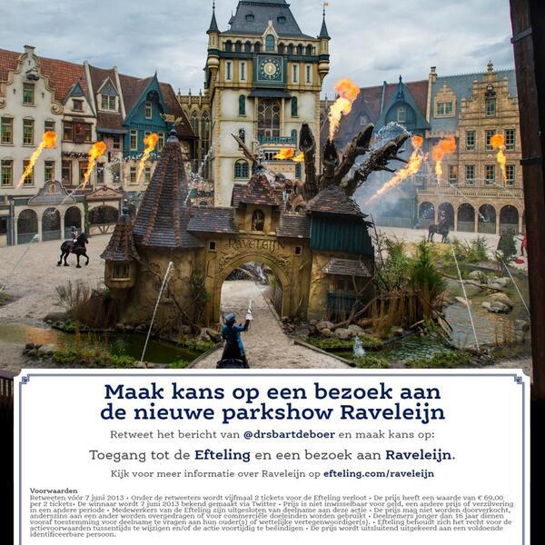 """Raveleijn: een spannend live spektakel! RT en maak kans op tickets voor de #Efteling en beleef Raveleijn! http://t.co/pTQCmYvmWH"""""""