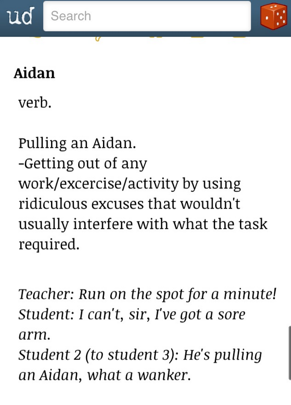 aidan on twitter oh urban dictionary it s sad how accurate you