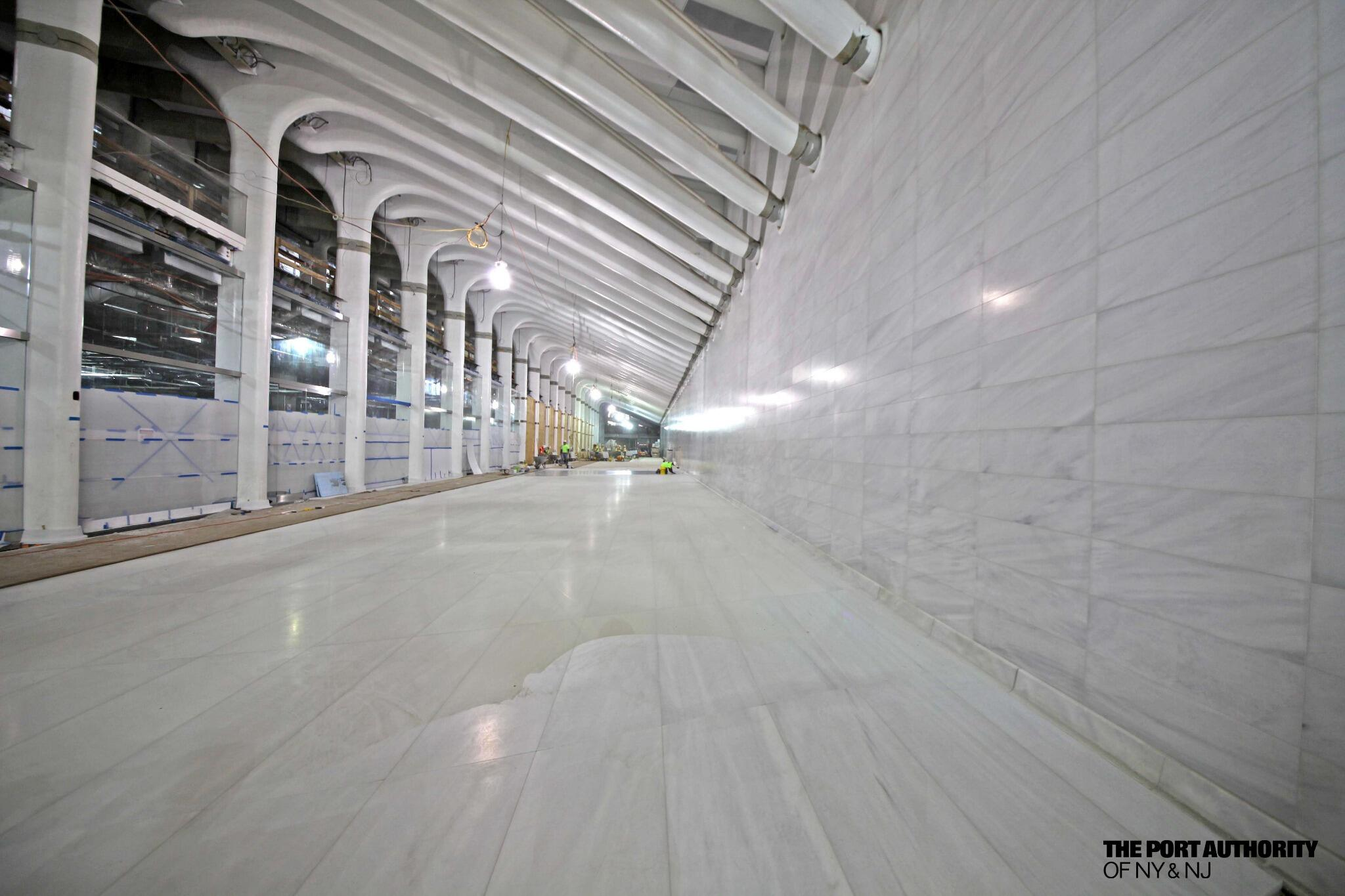 Photo A Glimpse Inside A Marble Lined Subway Station
