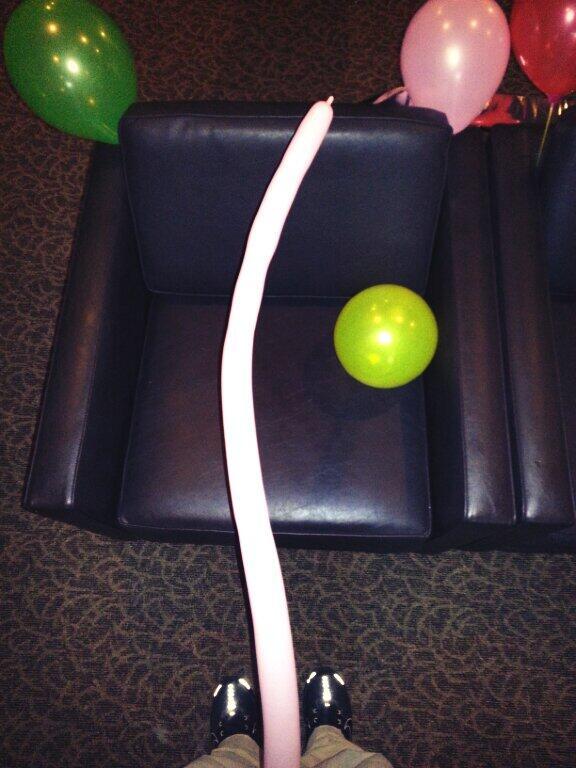 @Kai_Almighty forgot the picture. LOL! #longskinnyballoon #wtf #blowchallenge #throatchallenge
