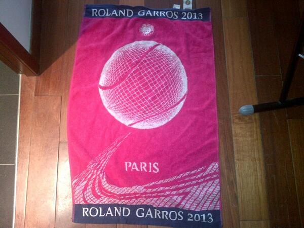 Resultado de imagem para roland garros towel 2013