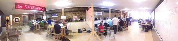 We love it!RT@cdharrison: The @_clubhouse is hopping with activity for #hackforchange. pic.twitter.com/OVELIeW5Ny #hackaugusta