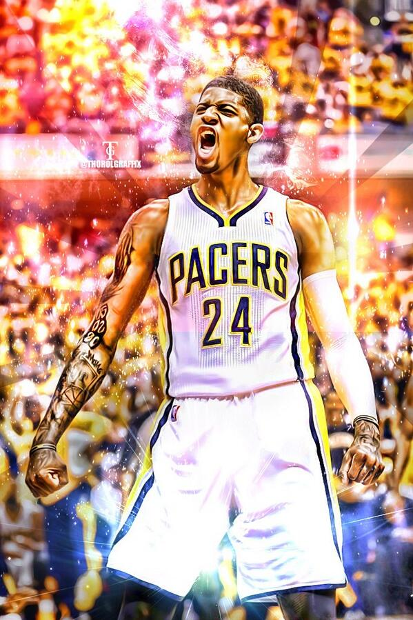 """@Thorolgraffix: Paul George wallpaper pic.twitter.com/BDfjrEsOfp"" He gunna be a great player"