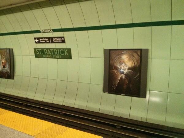 Toronto Sewers art at St. Patrick station http://t.co/vTyx36n3of