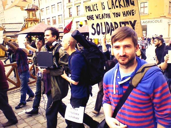 We are now on #Wrocław #Poland center giving support to #occupygezi @rychlewski @PolandTalks pic.twitter.com/tHmXhmsa3F
